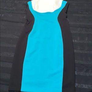 Color block halter like dress